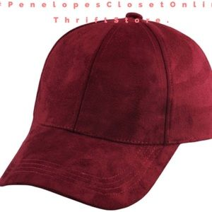 Suede maroon dad hat